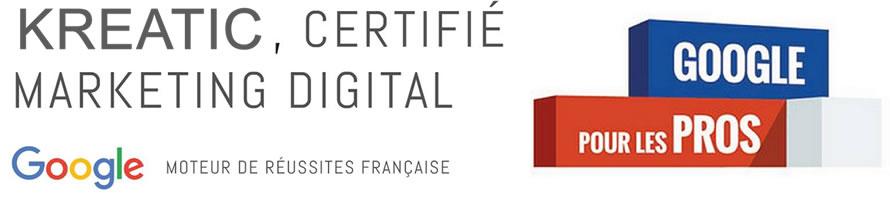Kreatic est certifiée marketing réseaux Sociaux